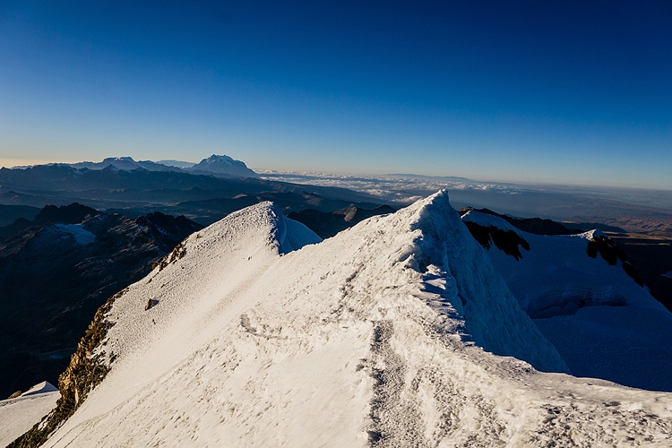 View from the top of Huayna Potosi (6088 m)